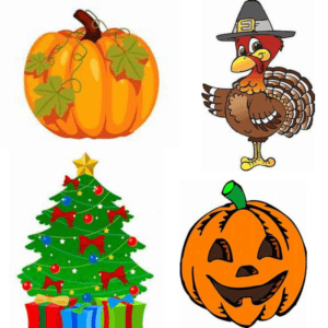 Halloween Thanksgiving Christmas Clipart.Week 6 Of 16 To Stress Free Hoildays Frugal Living On The